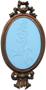 blaublütig, Tempera auf Holz,13,3 x 9,2 cm, 2008