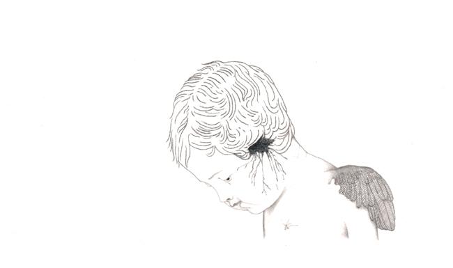Gefallender Engel, 13,8 x 10 cm, 2018
