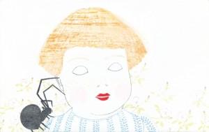 lullaby, Bunt-/Bleistift und Lack auf Holz, 10 x 16 cm, 2012, sold