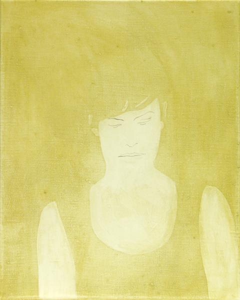 Kellnerin, Öl, Tempera und Bleistift auf Leinwand, 50 x 40 cm, 2005