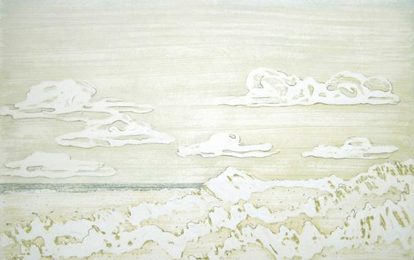 Winterdüne, Tempera auf Holz, 10 x 15 cm