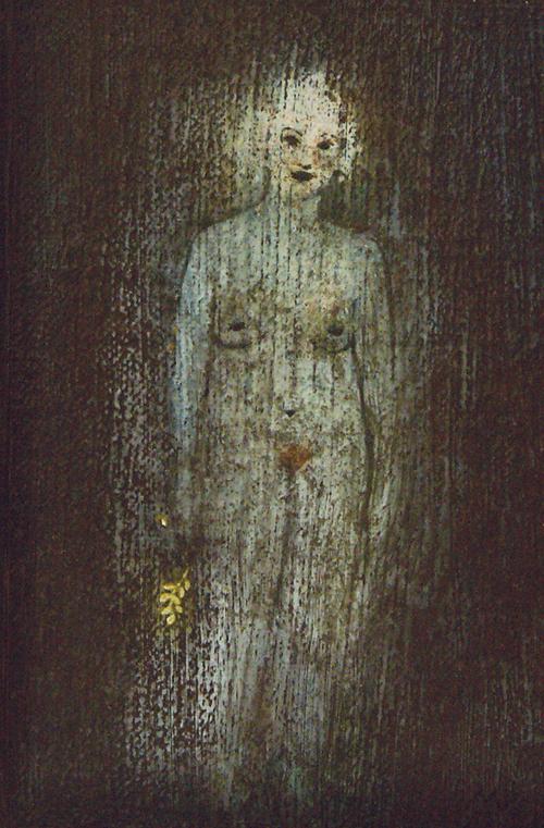 im verwunschenen Wald, 10 x 15 cm, Öl auf Leinwand
