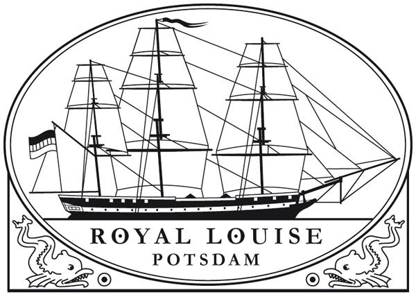 ROYAL LOUISE, Fregatte, Schiffsstempelentwurf